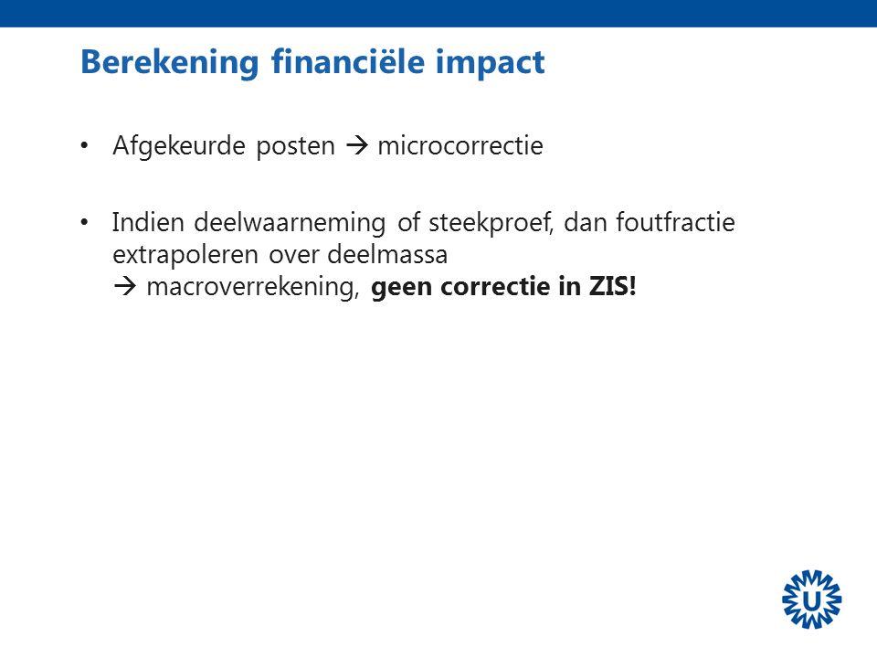 Berekening financiële impact