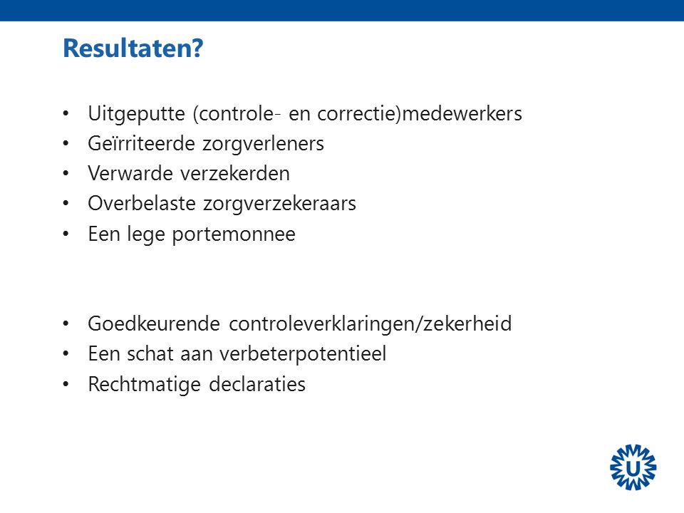 Resultaten Uitgeputte (controle- en correctie)medewerkers