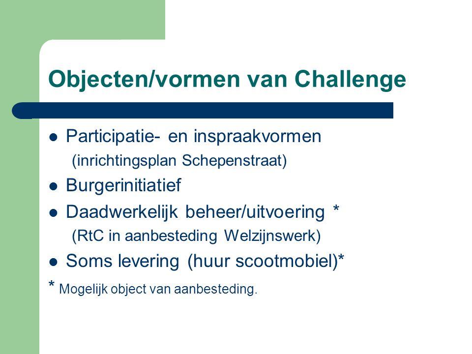 Objecten/vormen van Challenge