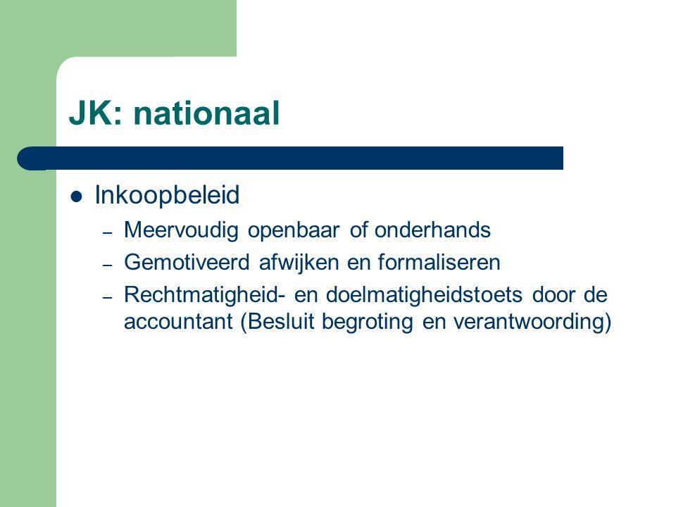 JK: nationaal Inkoopbeleid Meervoudig openbaar of onderhands