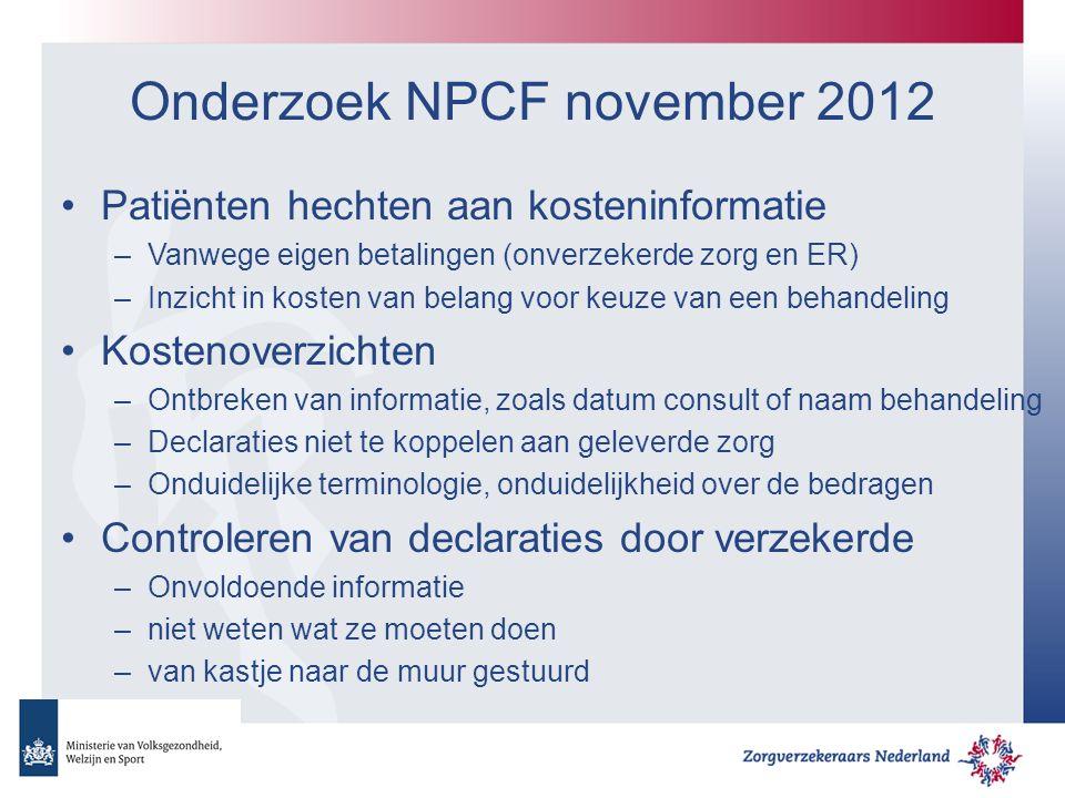 Onderzoek NPCF november 2012