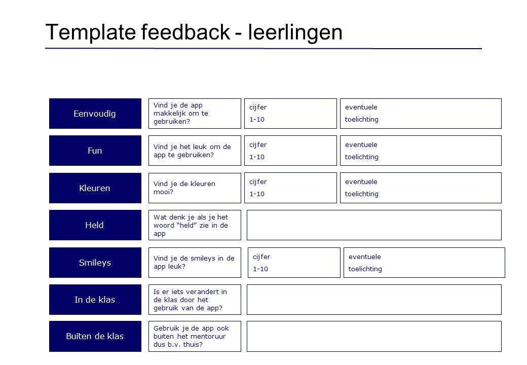 Template feedback - docenten
