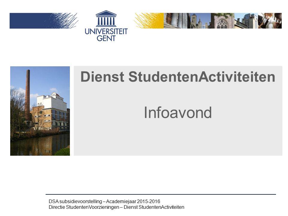 Dienst StudentenActiviteiten Infoavond