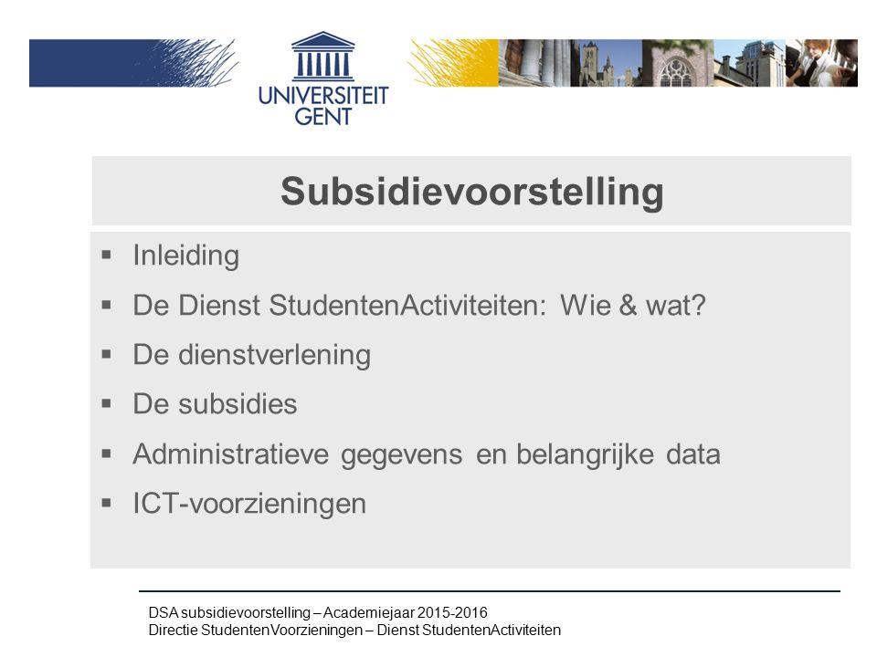 Subsidievoorstelling