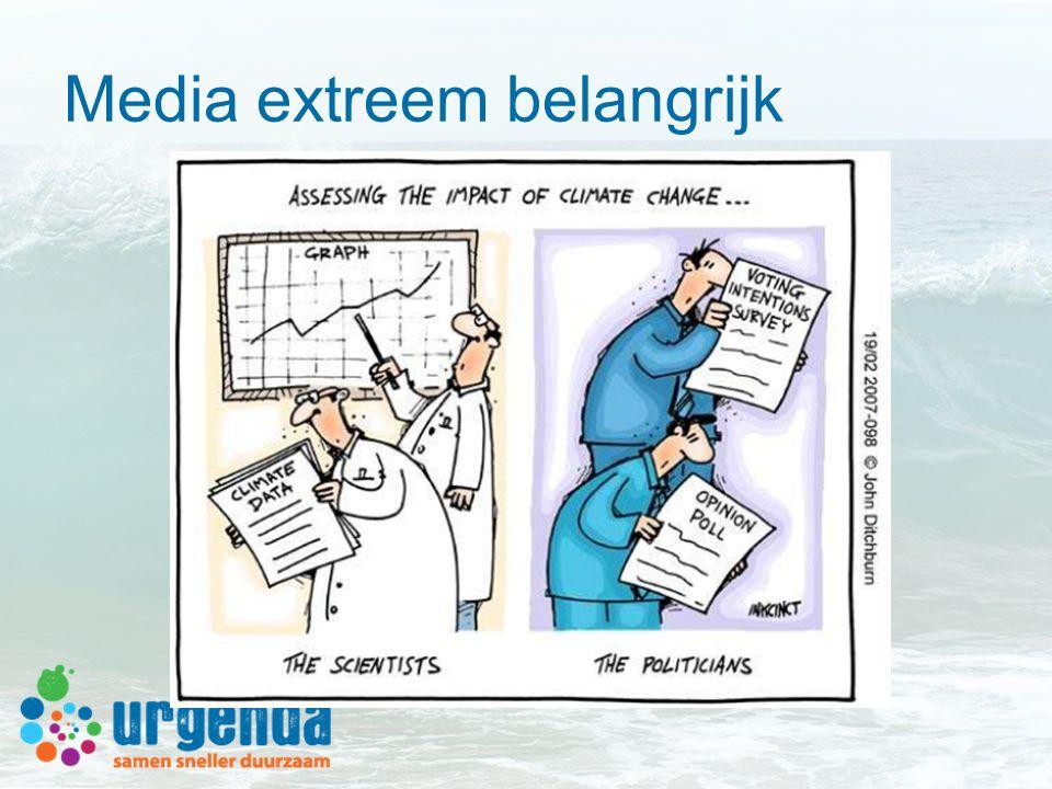Media extreem belangrijk