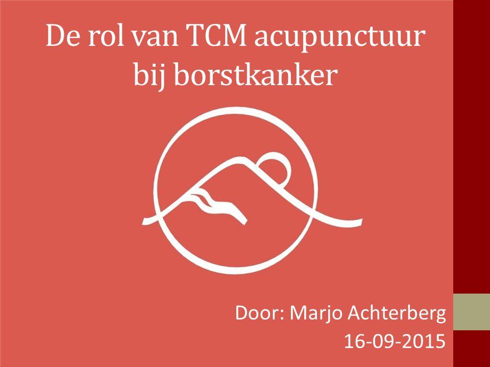 De rol van TCM acupunctuur bij borstkanker