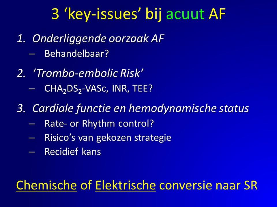 3 'key-issues' bij acuut AF