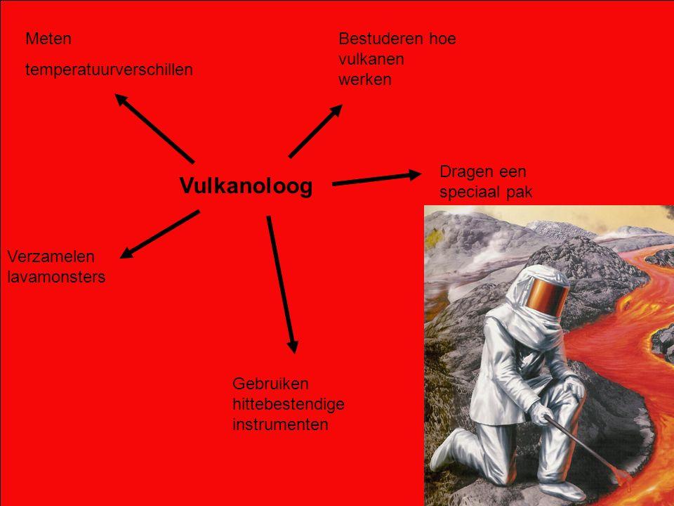 Vulkanoloog Meten temperatuurverschillen