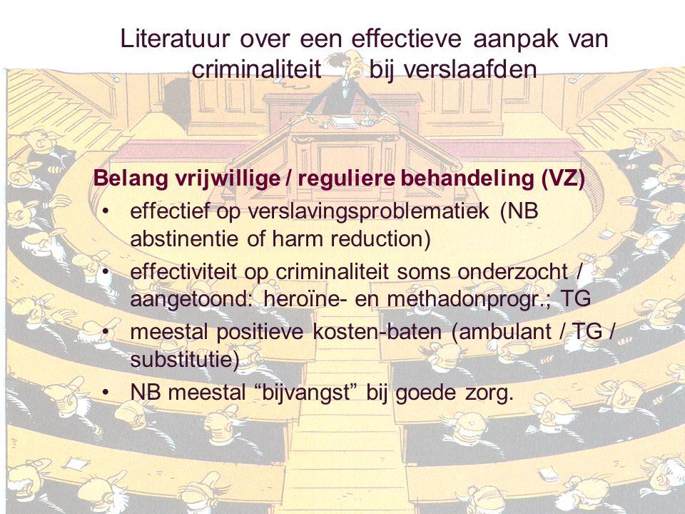 Literatuur over een effectieve aanpak van criminaliteit bij verslaafden