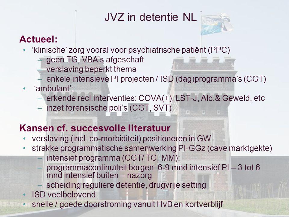 JVZ in detentie NL Actueel: Kansen cf. succesvolle literatuur