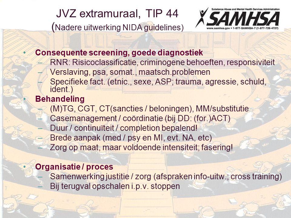 JVZ extramuraal, TIP 44 (Nadere uitwerking NIDA guidelines)