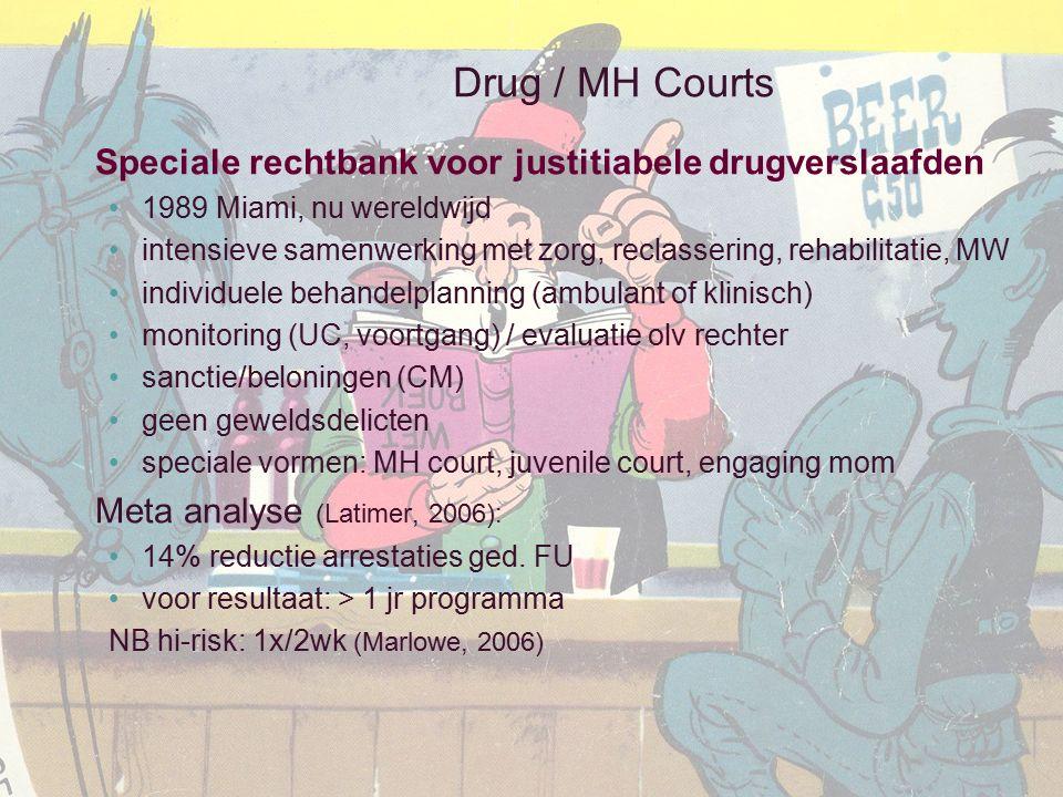 Drug / MH Courts Speciale rechtbank voor justitiabele drugverslaafden