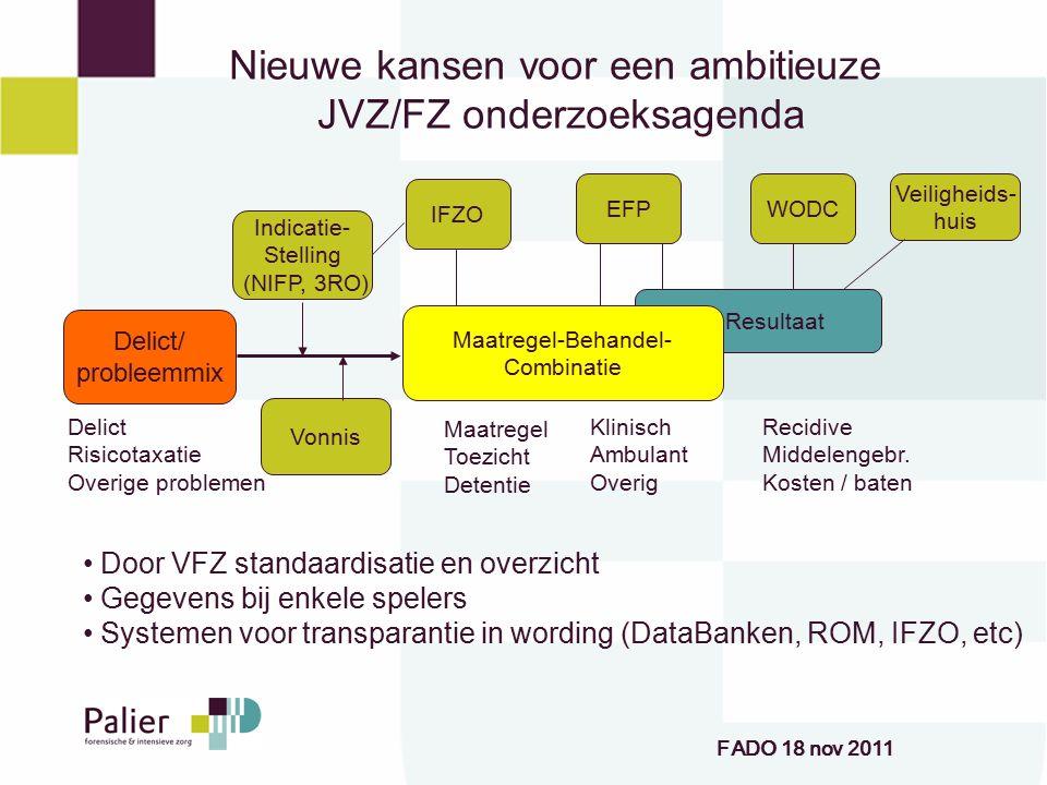 Nieuwe kansen voor een ambitieuze JVZ/FZ onderzoeksagenda