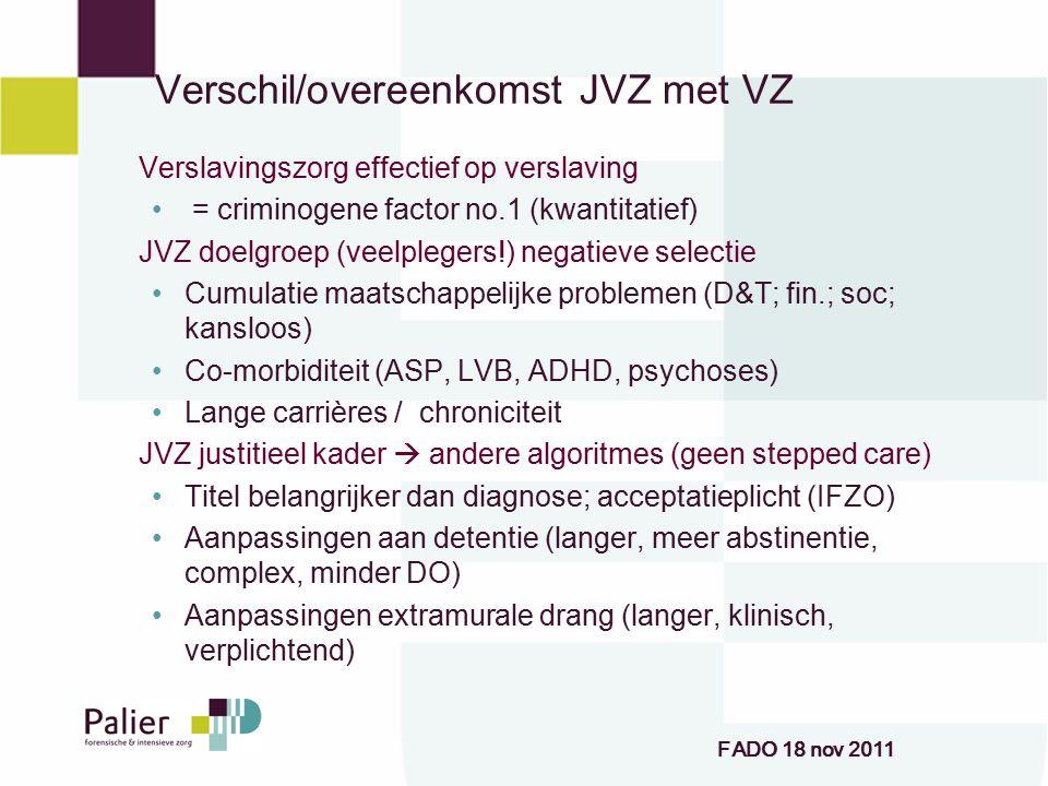 Verschil/overeenkomst JVZ met VZ