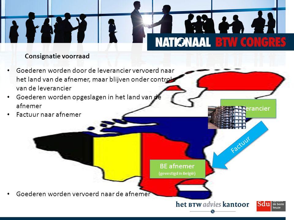 BE afnemer (gevestigd in België)