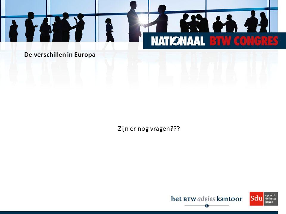 De verschillen in Europa