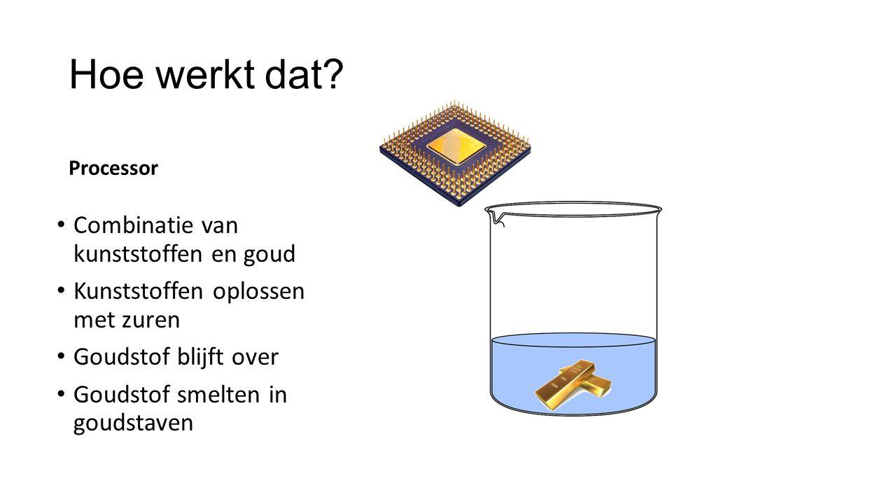 Hoe werkt dat Combinatie van kunststoffen en goud