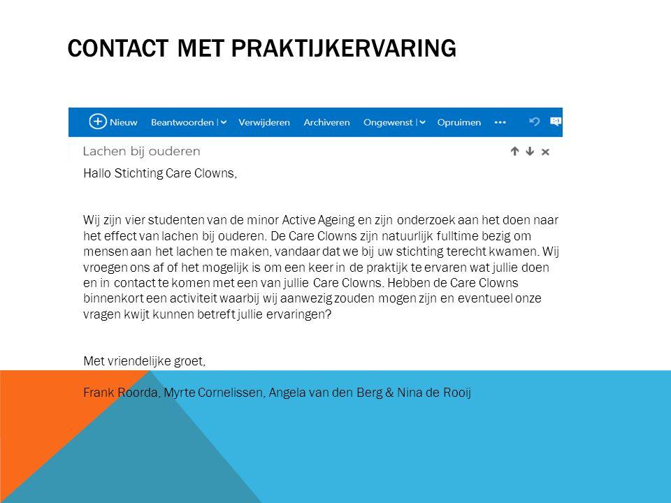 Contact met praktijkervaring