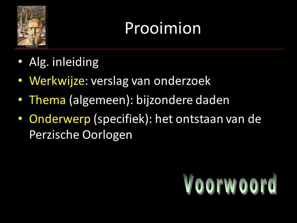 Prooimion Alg. inleiding Werkwijze: verslag van onderzoek