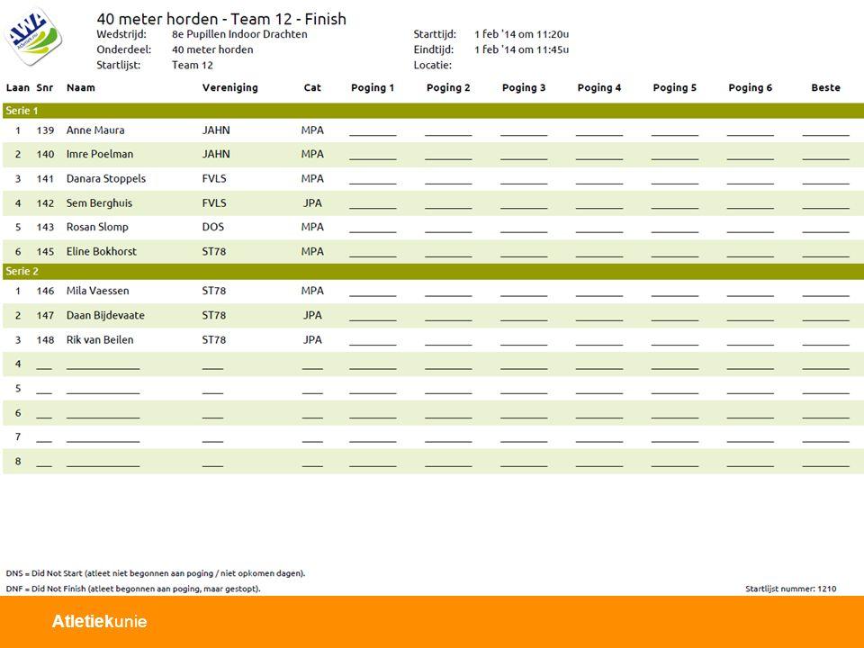 Scoreformulier (teambegeleider)