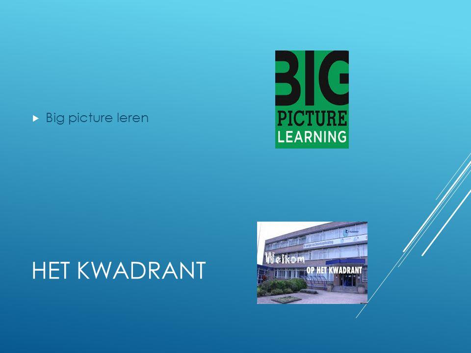 Big picture leren Het Kwadrant