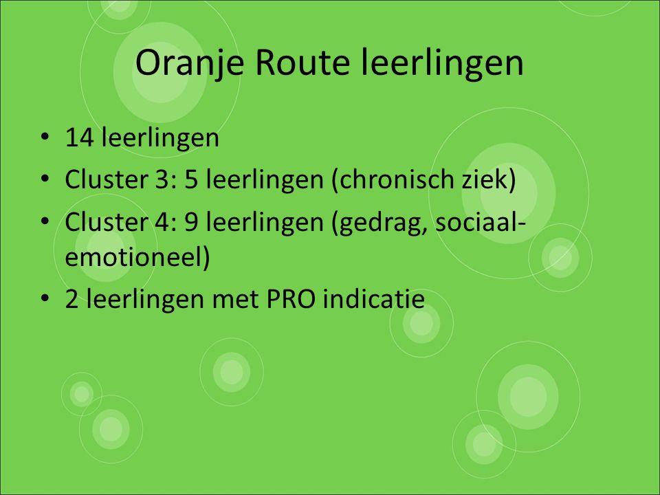 Oranje Route leerlingen