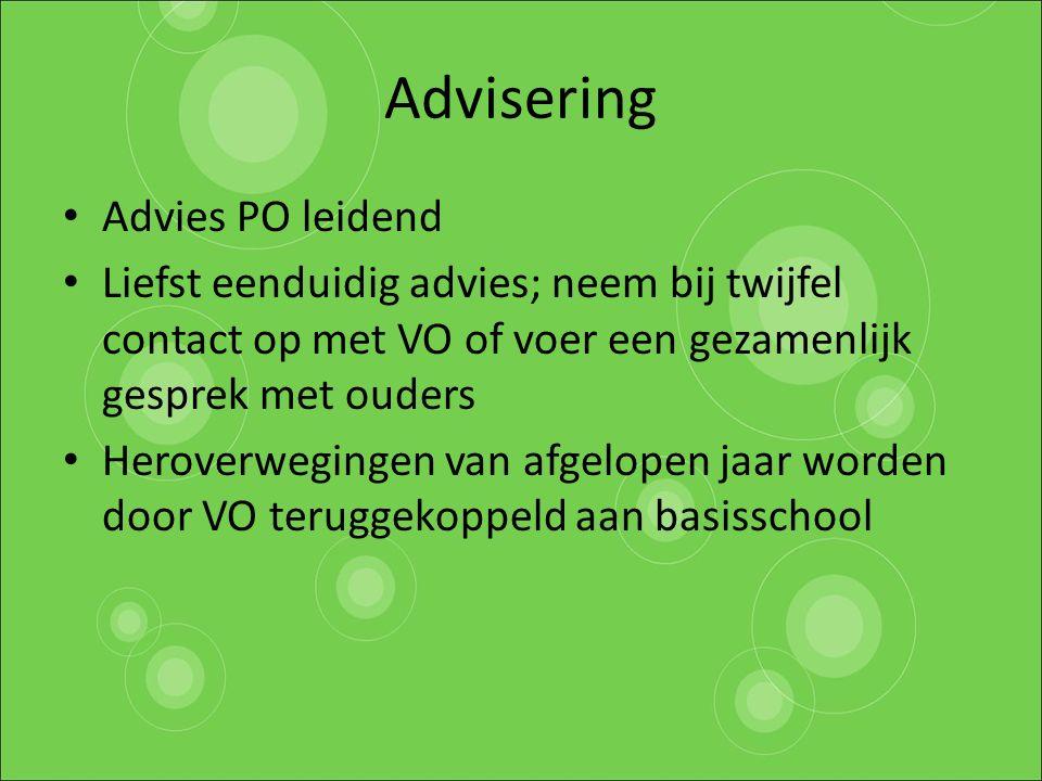 Advisering Advies PO leidend