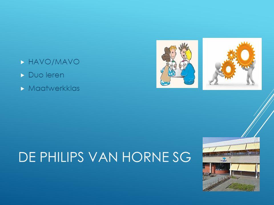 HAVO/MAVO Duo leren Maatwerkklas De Philips van horne sg