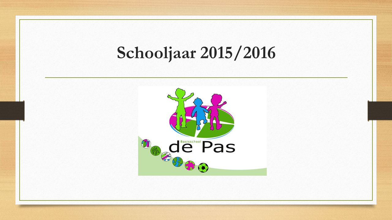 Schooljaar 2015/2016