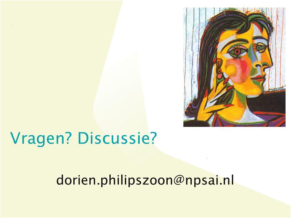 dorien.philipszoon@npsai.nl Vragen Discussie