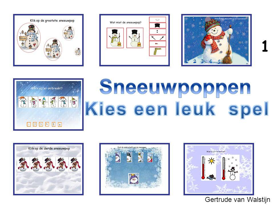 1 Sneeuwpoppen Kies een leuk spel Gertrude van Walstijn