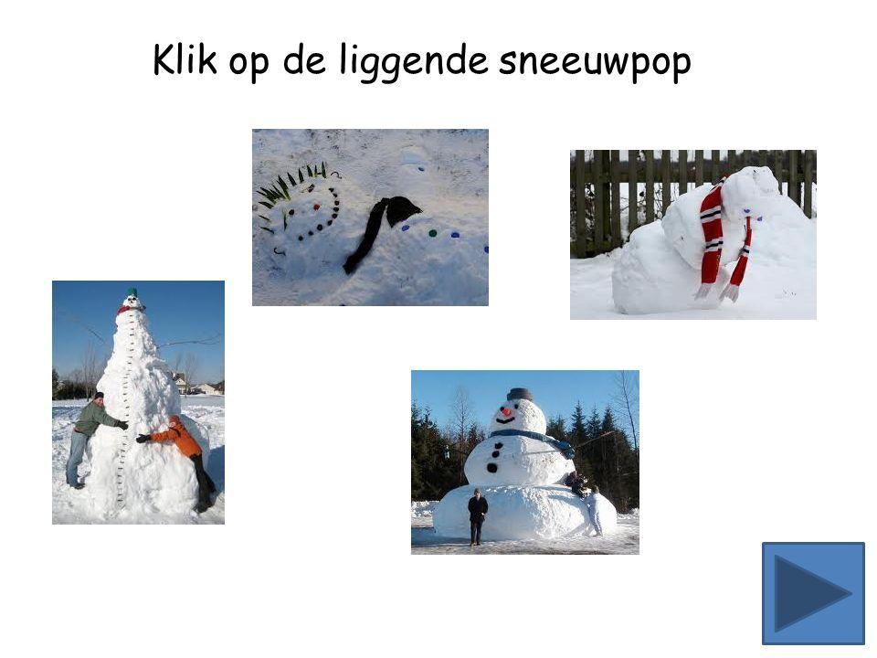 Klik op de liggende sneeuwpop