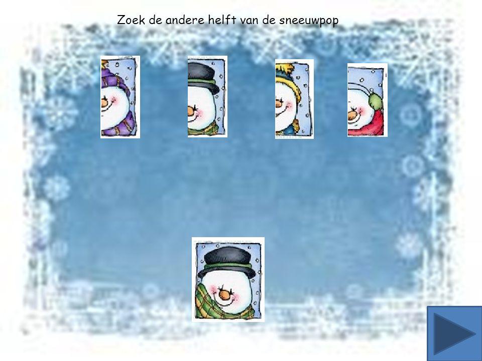 Zoek de andere helft van de sneeuwpop
