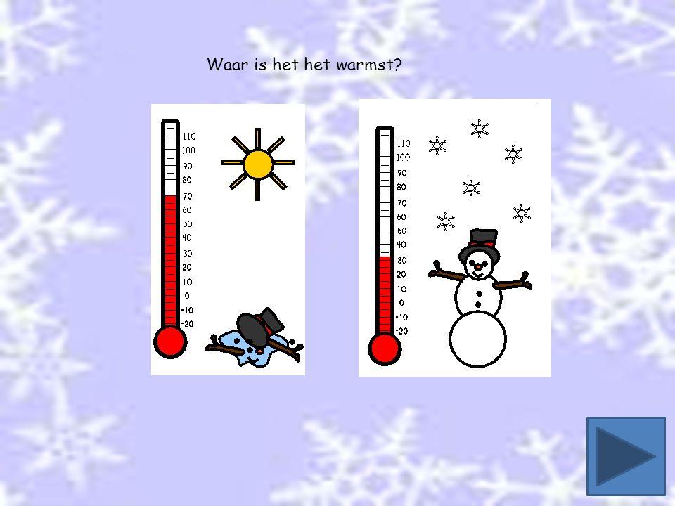 Waar is het het warmst