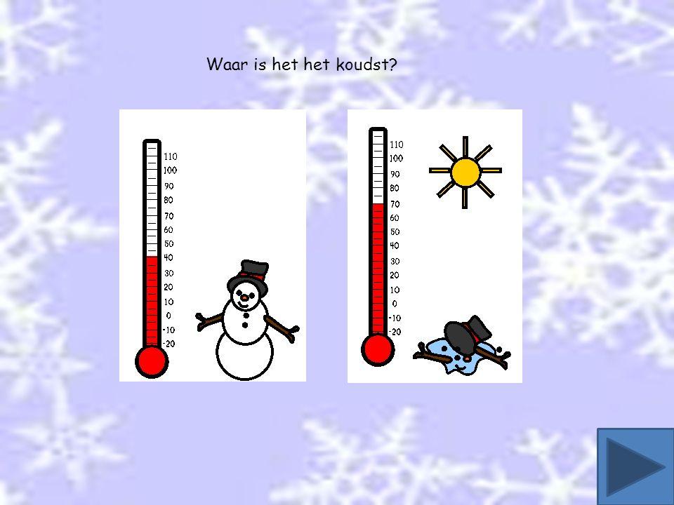 Waar is het het koudst