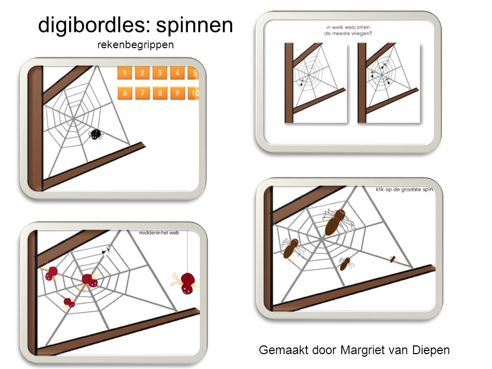 digibordles: spinnen rekenbegrippen