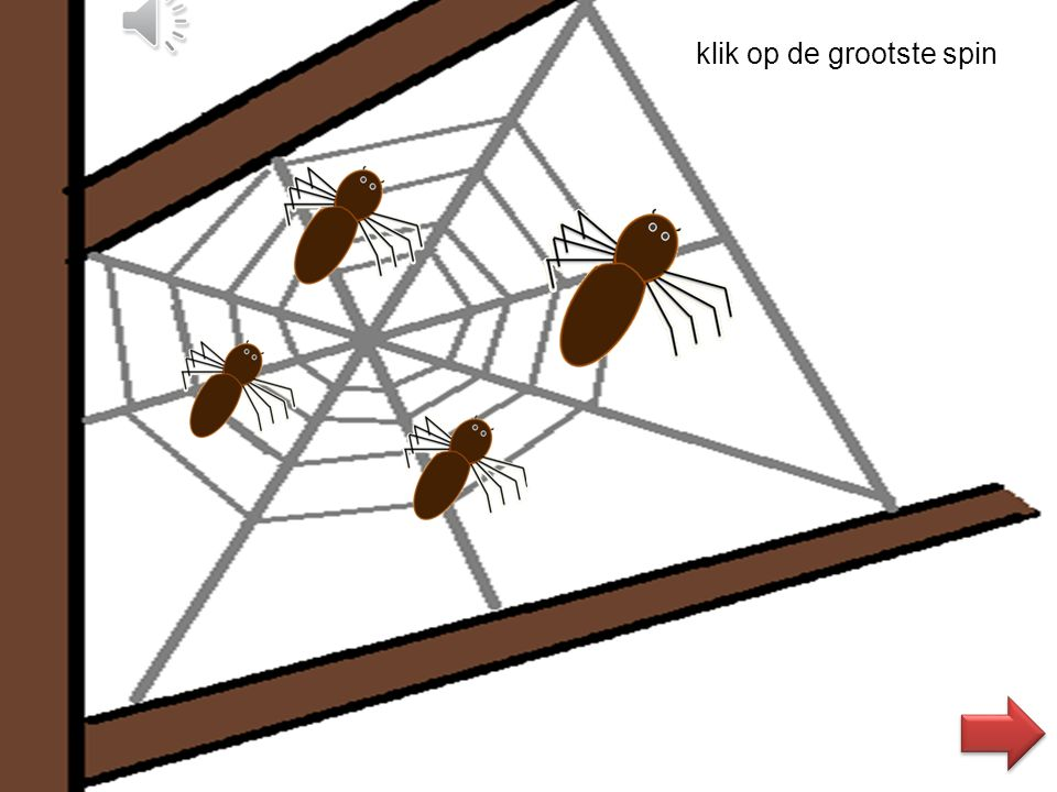klik op de grootste spin