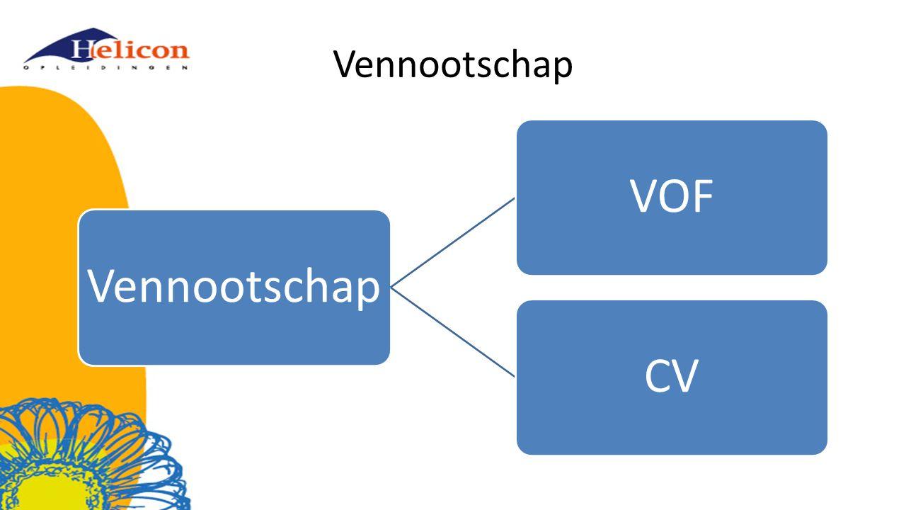 Vennootschap Vennootschap VOF CV