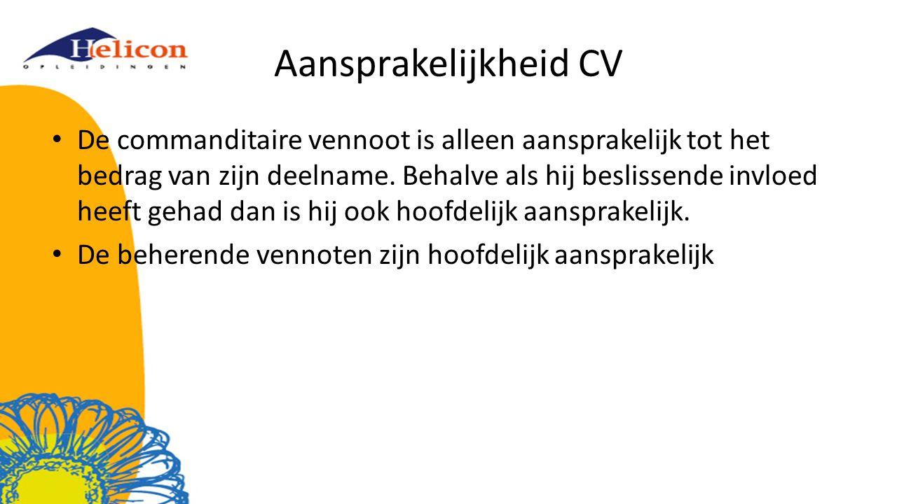 Aansprakelijkheid CV