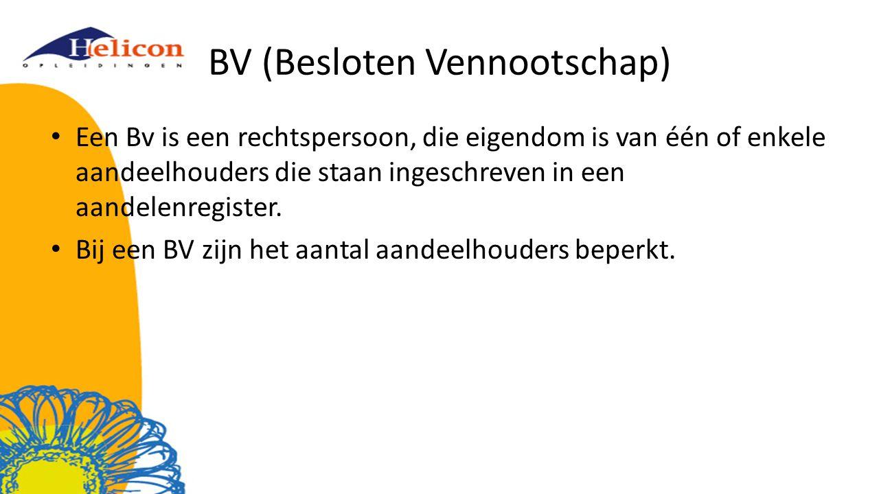 BV (Besloten Vennootschap)