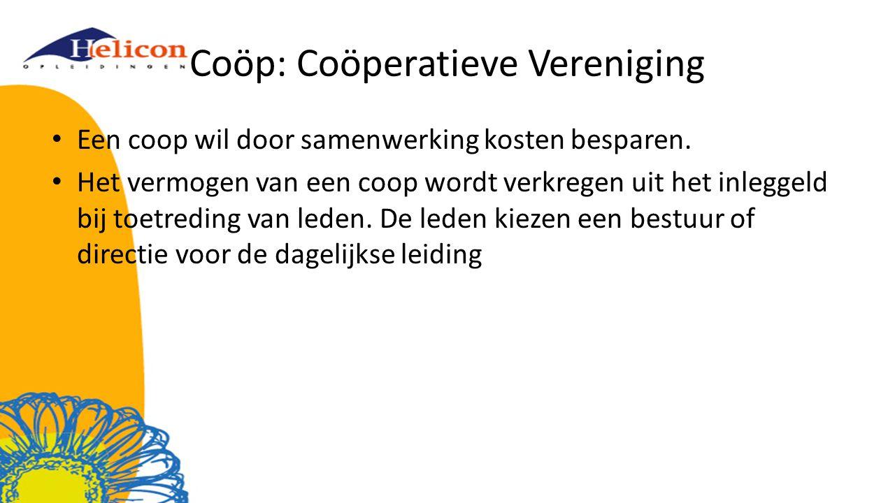 Coöp: Coöperatieve Vereniging