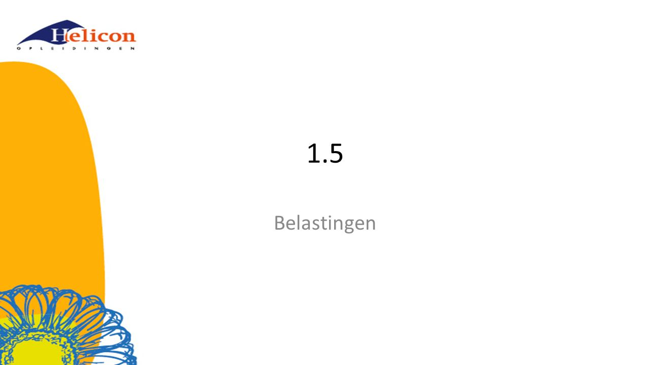 1.5 Belastingen