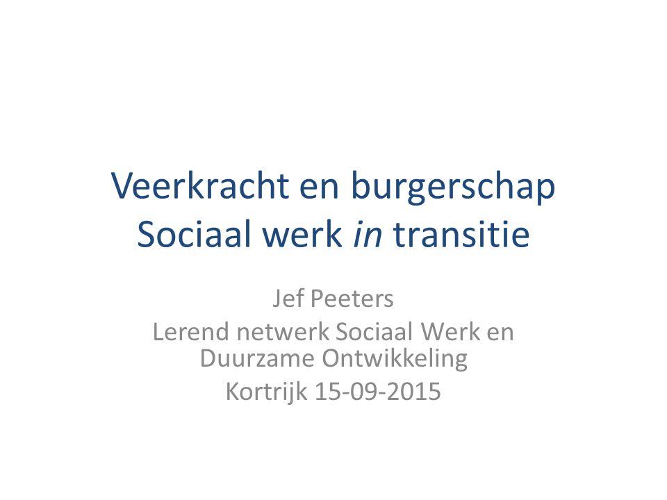 Veerkracht en burgerschap Sociaal werk in transitie