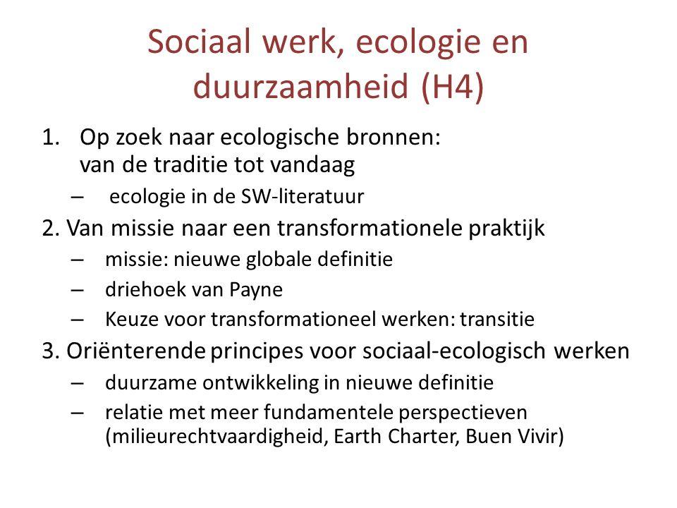 Sociaal werk, ecologie en duurzaamheid (H4)