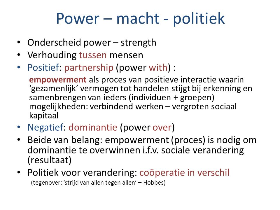 Power – macht - politiek