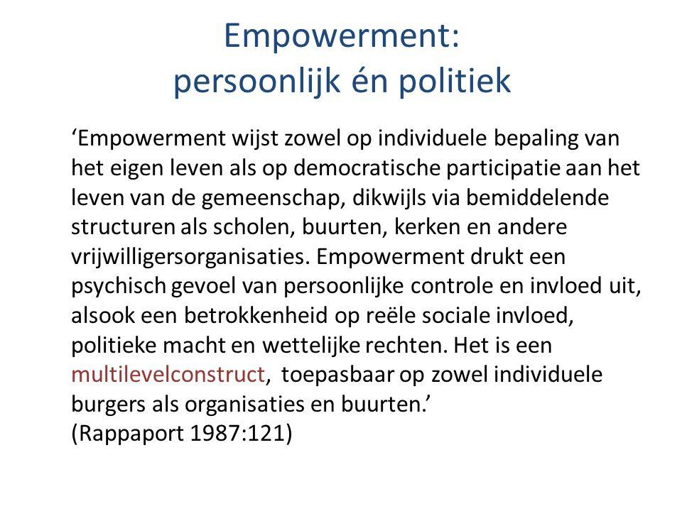 Empowerment: persoonlijk én politiek