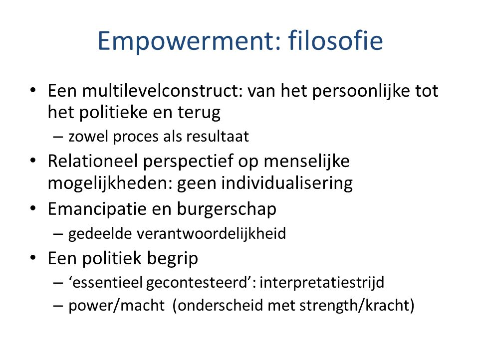 Empowerment: filosofie