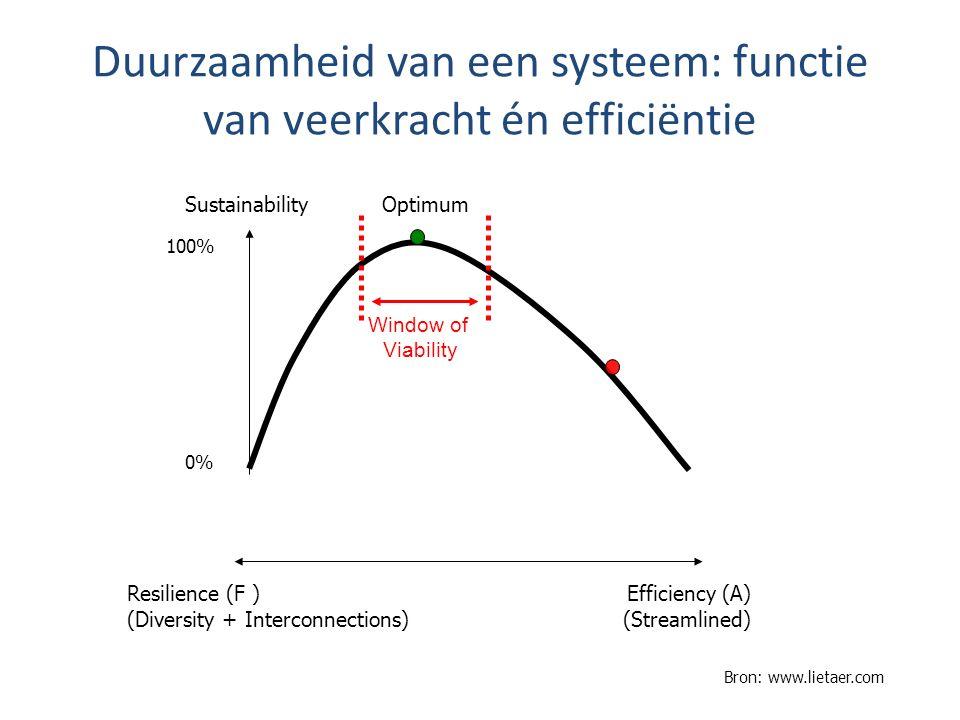 Duurzaamheid van een systeem: functie van veerkracht én efficiëntie