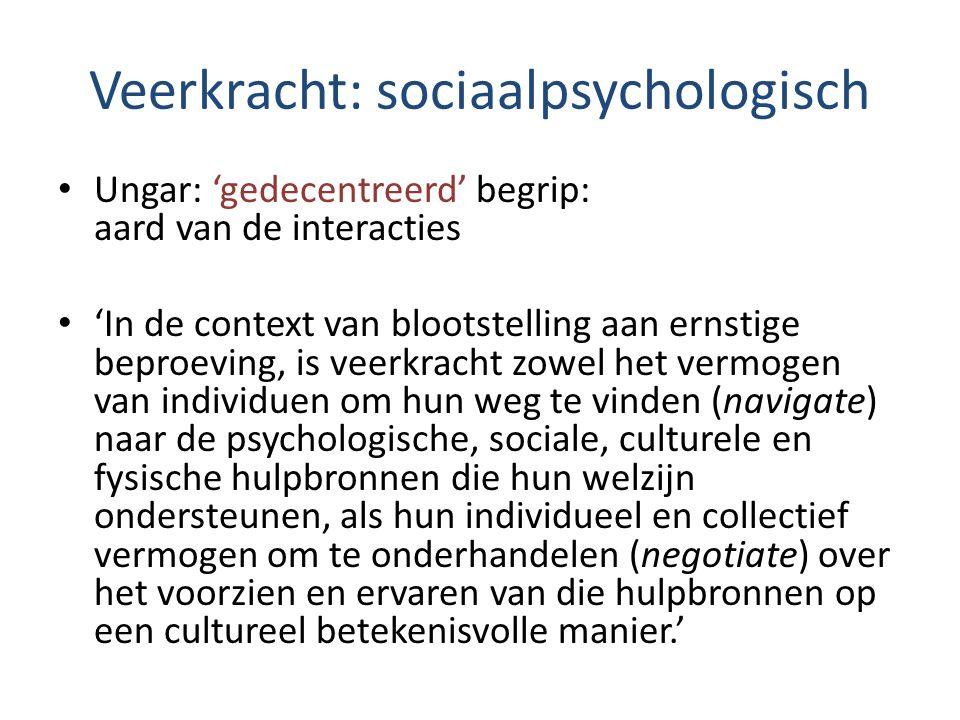 Veerkracht: sociaalpsychologisch