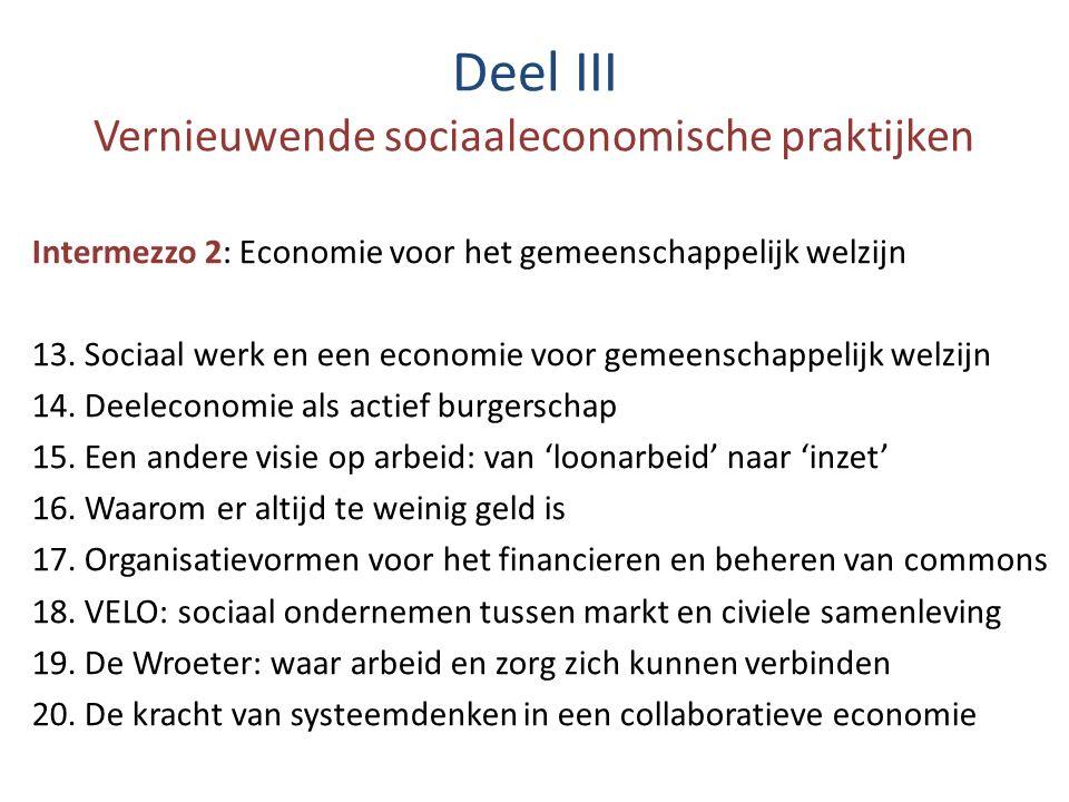 Deel III Vernieuwende sociaaleconomische praktijken